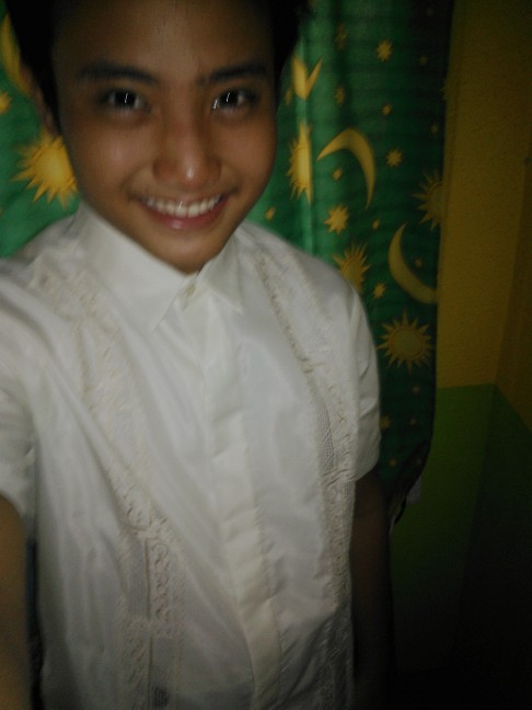 Wearing a barong. Gotta go. Byeeee (Taken with InstaCam)
