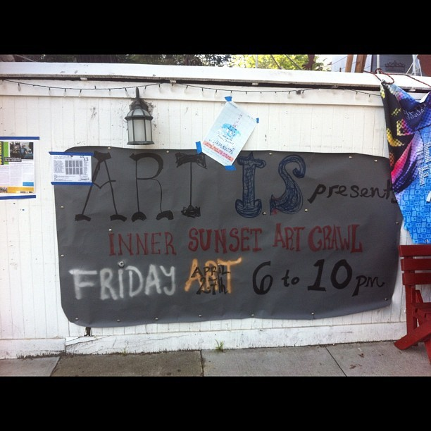 Art walk in the Inner Sunset!  (Taken with instagram)