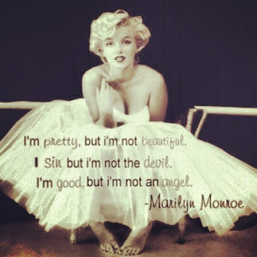 josealbertouw:  My Lady 💜😍™. #Marilynmonroe #swag #quotes #photography #fashion #quotes #banners (Taken with instagram)