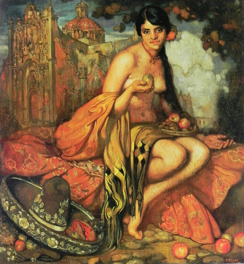 La criolla del rebozo de Saturnino Herrán. 1916. Oil on canvas. by Alfonso II on Flickr.