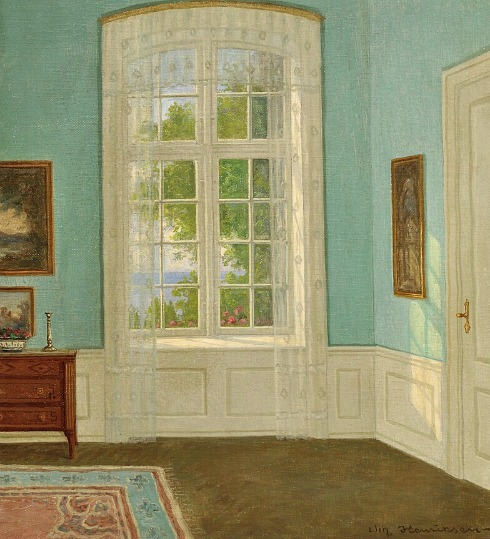 William Henriksen Sunlit Garden Room 20th century