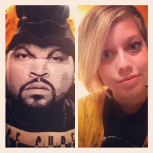 Ice cube and I are keepin it classy and going to the bar tonight.  (Taken with Instagram at Today was a good day)