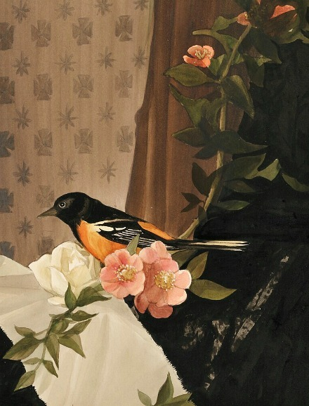 Stow Wengenroth Still Life with Baltimore Oriole on a Flowering Branch 20th century