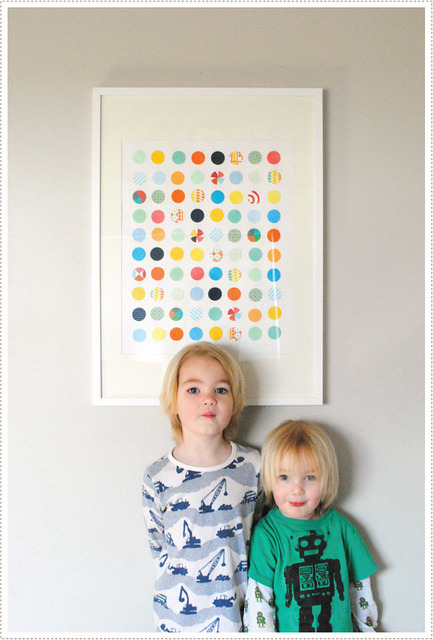 DIY wall art. No need to run out and buy pricey prints - add some color pop to your walls using recycled cutouts from newspaper, magazines, wrappings, etc. Be creative and take your wall art to a whole new (and very unique!) level. View the DIY Circle Punch Art instruction guide from Mer Mag! - Team Forrage