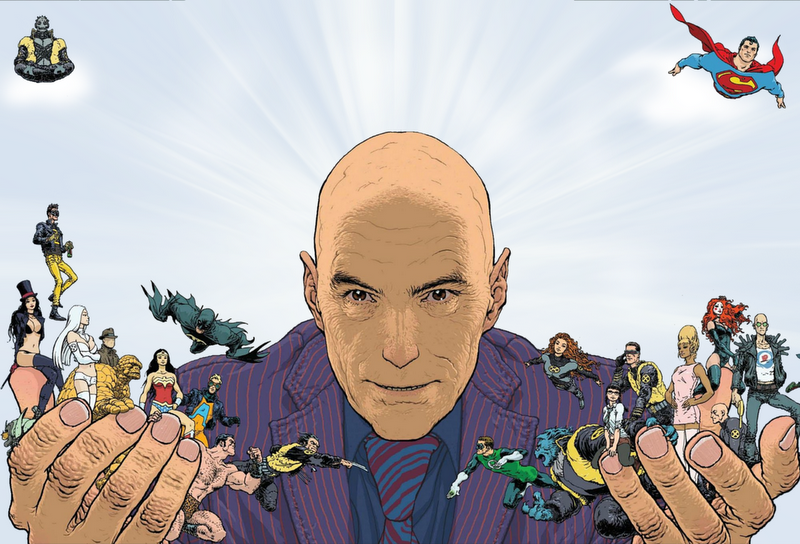 fyeahsuperheroes:  Frank Quitely For Playboy  The Great Grant Morrison