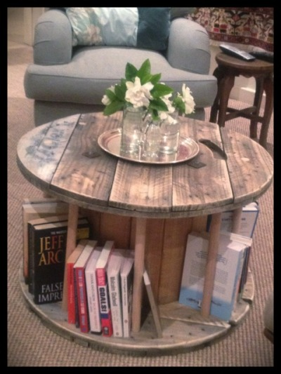 Cable Spool Coffee Table (Via)