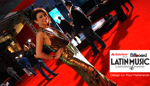 Lili Gil Valletta at the Billboard Latin Music Awards 2012 | Design by Raul Peñaranda http://raulpenaranda.com/