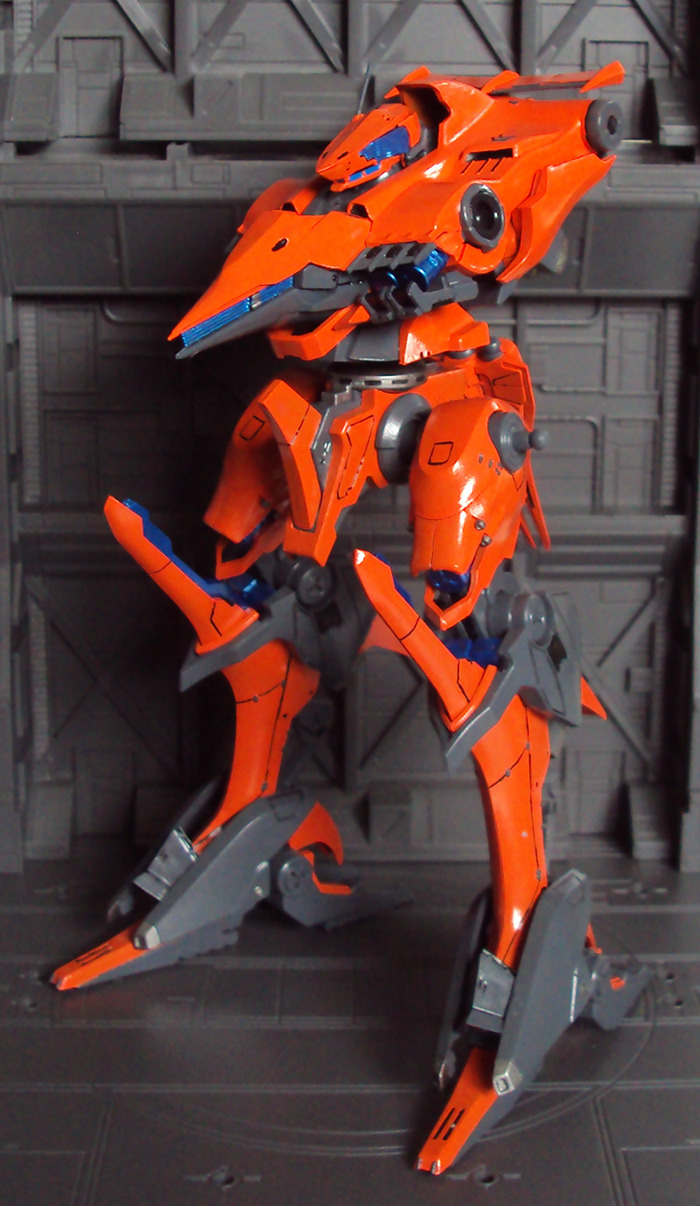 Orange 03-AALIYAH - Armored Core Hey guys, sorry for being quite for so long, but here it is as I promised! My Painting skills aren't the Best, but I'm still VERY pleased with how it's turning out so far.