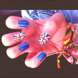 Did my friends nails.. British Style :)