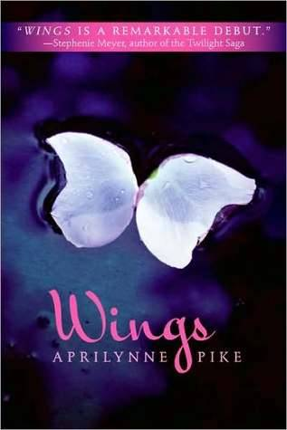 "Wings by Aprilynne Pike My Rating: 4/5 cups of coffee  Laurel was mesmerized, staring at the pale things with wide eyes. They were terrifyingly beautiful—too beautiful for words. Laurel turned to the mirror again, her eyes on the hovering petals that floated beside her head. They looked almost like wings. In this extraordinary tale of magic and intrigue, romance and danger, everything you thought you knew about faeries will be changed forever.  This is the first book I've read about faeries. Well, I think it was okay to change my imagination from vampires, science, war, death and etc. So I read this even though it has a lot of bad reviews. Well the story went so well, I love the way Laurel was trapped with two guys David and Tamani, one human and one faery. I love LOVE TRIANGLES! But I wanted to know how Laurel end up in the human world, well Tamani talks about it but it's no enough. The author should include it but maybe she will, in the other books. I hope. Overall, the story is great. Will read the second book ""SPELLS""."