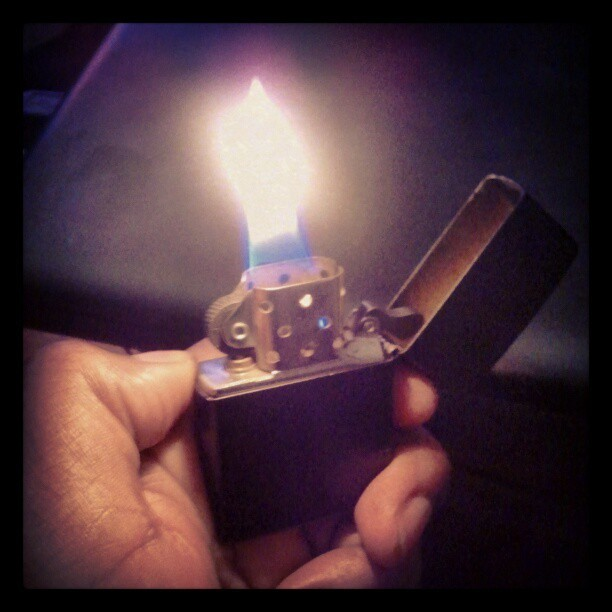 Like A Moth To The Flame, Burn By Desire. #LightMyFire #Zippo (Taken with instagram)