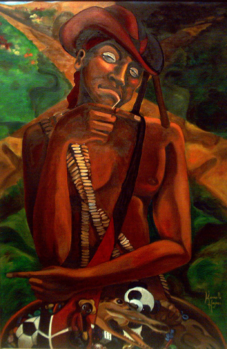 Ago Elegba Laroye!  I love the look on his face in this painting. It really sums up Elegba's personality to me.