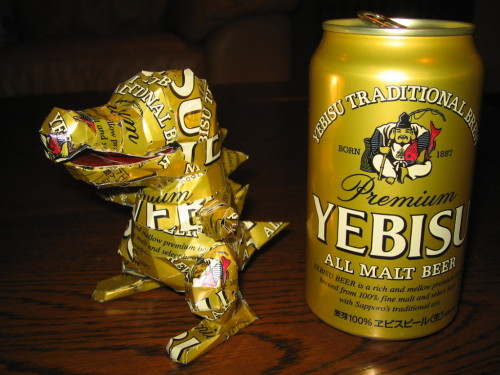 omnomnomjapanesefood:  it's a fucking totodile made out of a beer can