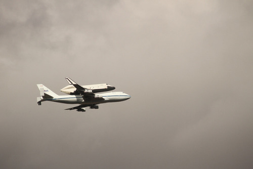 Space Shuttle Enterprise on Flickr. Though not quite how I'd intended, at least I got to see her fly.