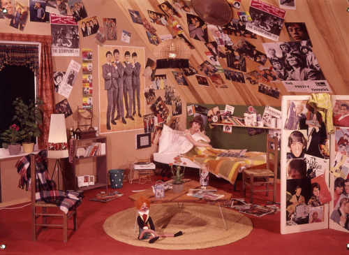 A teenage girl in her room.
