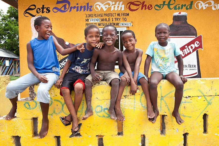 #travel #jamaica #advertising - Kids in Trench Town.  Sam Diephuis