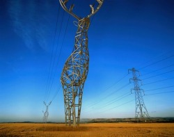 Extraordinary Deer-Shaped Electrical Towers Pinar, mymodernmet.com Across a vast expanse of coun­try land, lofty elec­tri­cal tow­ers always seem some­what out of place. They clash with the nat­ur­al aes­thet­ic of the envi­ron­ment, yet they are need­ed in this high-functioning world we live in. Moscow-based des…