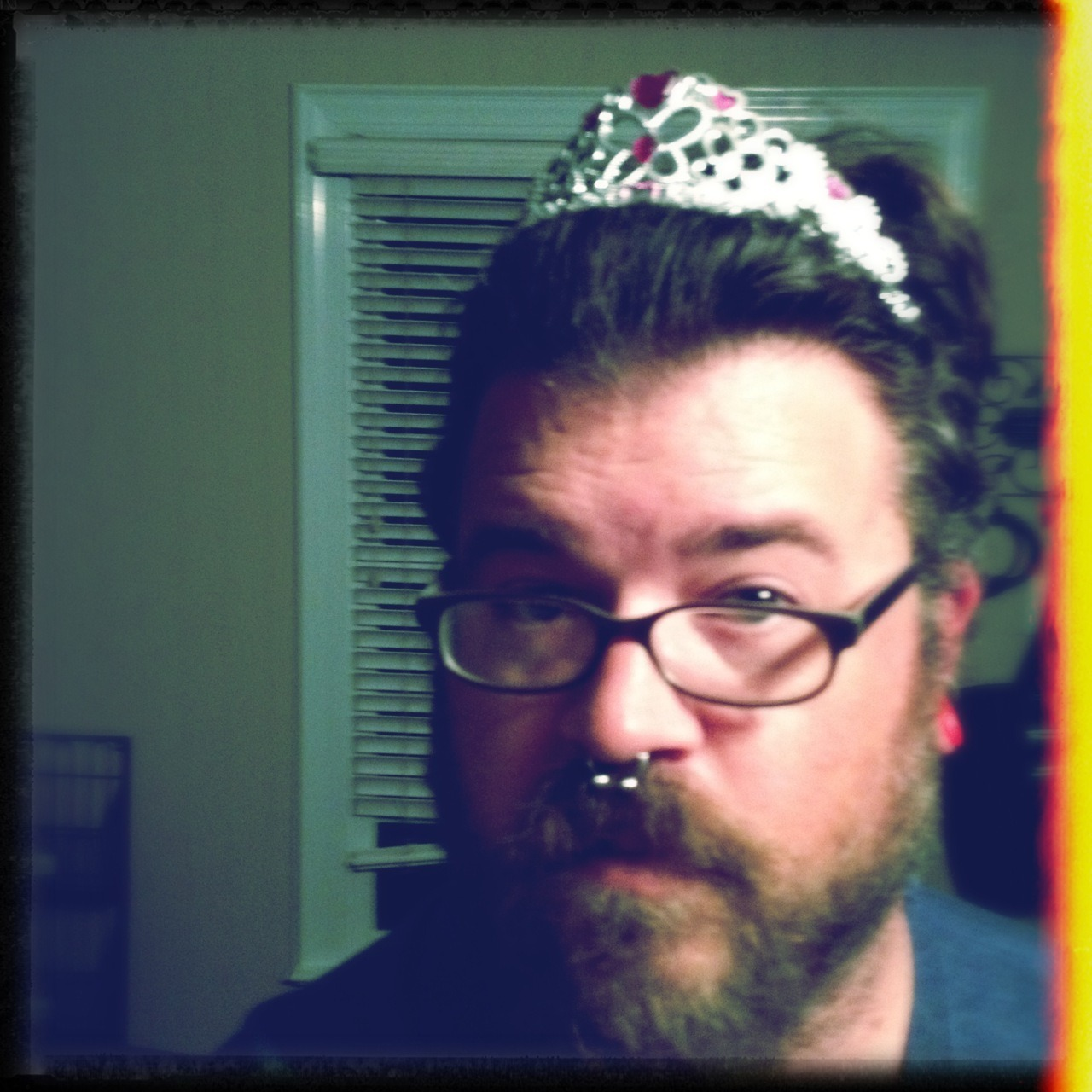 I found a tiara… What do you guys think?! Americana Lens, Dylan Film, No Flash, Taken with Hipstamatic
