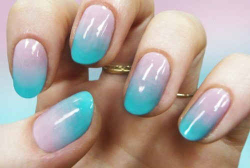 teenvogue:  Tap in to spring's biggest trends—ombre and pastel—with this super easy nail art tutorial from Nailing Hollywood's Madeline Poole. Learn the simple and chic steps here »  beautiful