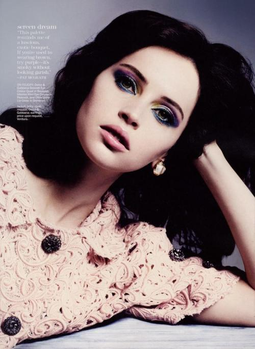 powderdoom:  Felicity JonesMarie Claire - May 2012