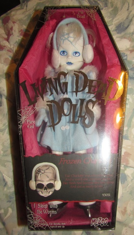 "mintgreenspider:  FOR SALE: Living Dead Doll - ""Frozen Charlotte"" - NIB/factory sealed I have a lot of anime/cosplay/jewelry/stuff etc that I'm trying to rid myself of (to make room for more anime stuff orz). Most of these items are brand new and never used because they were either won during con contests or given to me as gifts.  Asking price for this item is $250. If you're interested, message me and we'll work something out. Thanks :3  So lovely *sigh* i can't afford more dolls at the moment."