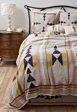 isleta duvet Grace Bonney, designsponge.com There is an insane amount of awe­some geo­met­ric stuff hap­pen­ing at Anthro­polo­gie right now. Much like ombre, I can't get enough of sim­ple geo­met­ric shapes and pat­terned. Used all togeth­er it looks like a train wreck, but used spar­ing­l…
