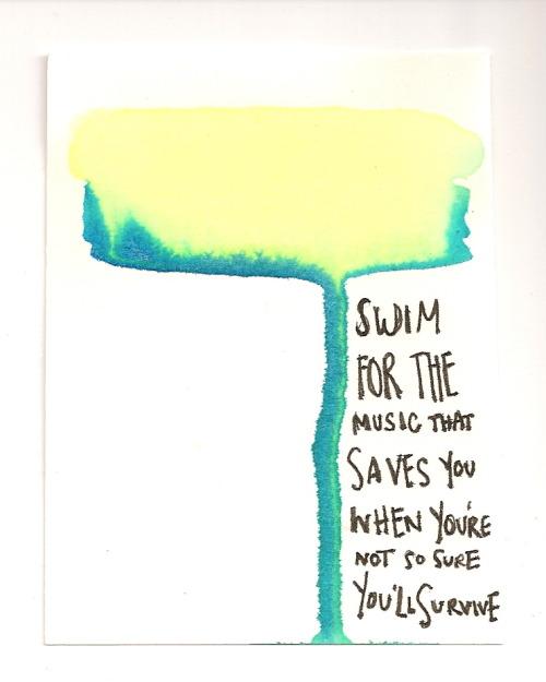 Music lyrics green blue swim jack 39 s mannequin andiewear for Swimming swimming in the swimming pool song lyrics