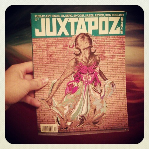 I highly suggest that everyone picks up a copy of this months #juxtapoz. The entire issue is focused on public art and all the positive things that come from it. Lots of interviews. Good stuff. #Portland #streetart #swoon #blu #Graff #graffiti #art #espo #saber #revok #ronenglish #culture (Taken with instagram)