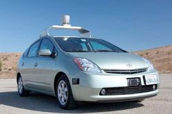 "8bitfuture:  Google in talks with car makers to bring self-driving cars to market. According to a Google project manager, an announcement on when self-driving cars will be available to the public could be made as early as next year. This comes after it was revealed that Google is ""in talks with car manufacturers to see what their level of excitement is and how do we work with them"". Safety - or perceived risks - are going to be the biggest problem with bringing the technology to market. Google has identified this and says they want to log at least 1 million miles with their test cars before the technology is offered to the public. Meanwhile MIT's media lab has been solving another problem the cars would cause - how pedestrians would know an autonomous car had seen them at a crossing. When making eye contact with the driver is no longer an option, MIT came up with the solution of making small lights that swivel in the direction of the pedestrian.  The lights swivel to look at you when the sensors detect you, and blue LEDs flash to indicate the car has seen you. Directional speakers swivel toward you, too, and the car tells you it's safe to cross. The system can also flash bright white LEDs to get your attention.  Sonar sensors can detect if a pedestrian is too close to the side of the car. If they do, LEDs in the wheels to turn from green to orange and red—getting redder as you get closer—to warn you, and let you know the car knows you are there."
