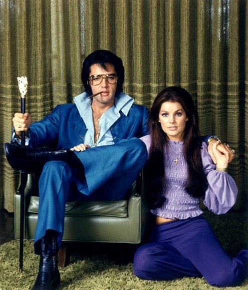 suicideblonde:  Elvis and Priscilla