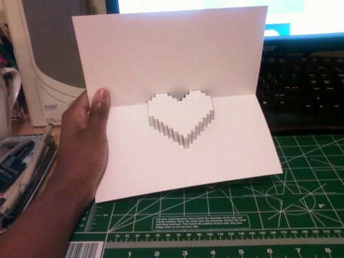 OOH LOOKIE! I wanna make more!!! Get me some more paper!!! :D Of course this is just a test run. I'll tinker around more when I get to making the actual card. I think next time, I'll use something thinner than Bristol board.