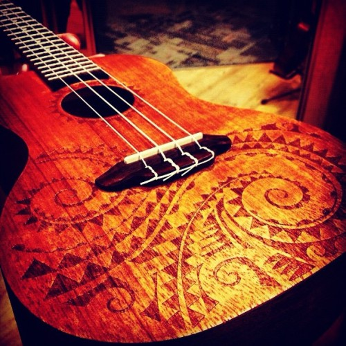 #Ukulele #Polynesian #Tribal (Taken with instagram)