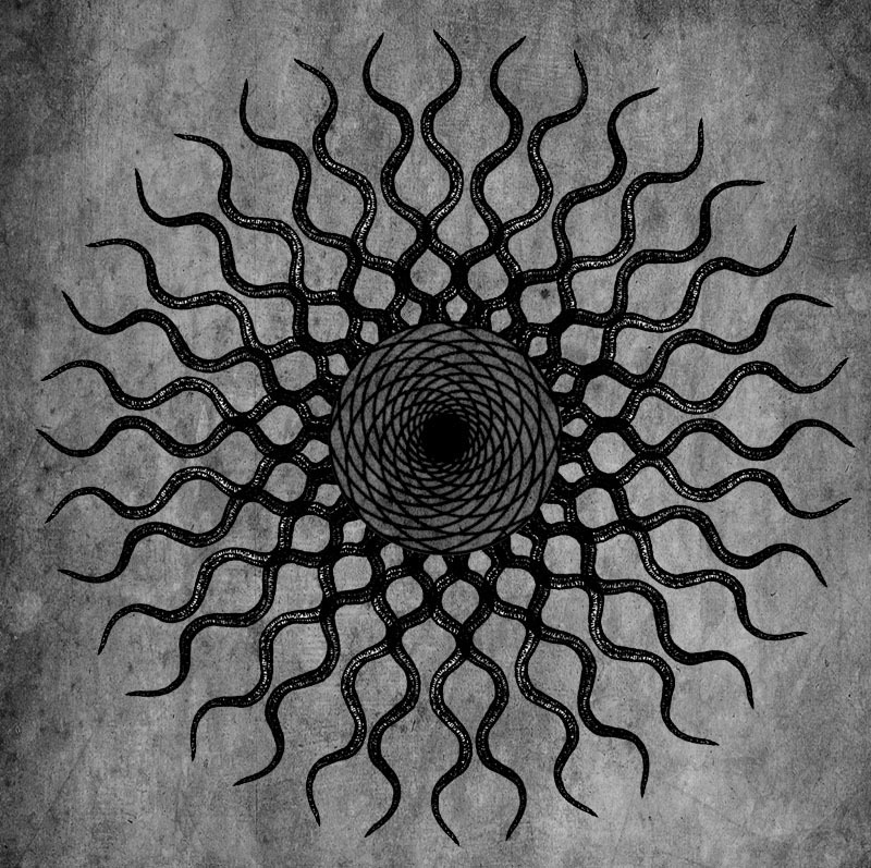 circleart:  Twisted Rays (B&W) by CircleArt