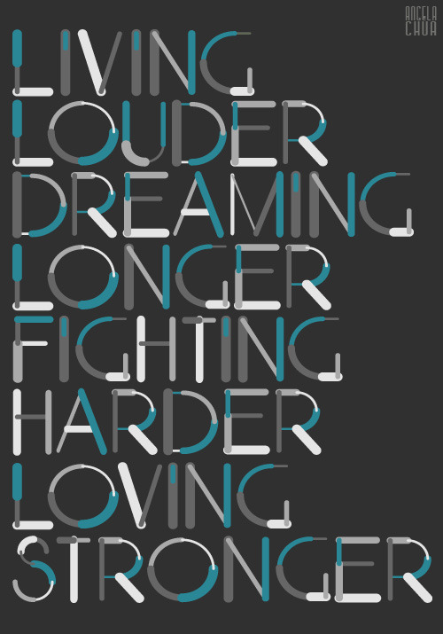 Living Louder - The Cab Font originally by antongridz