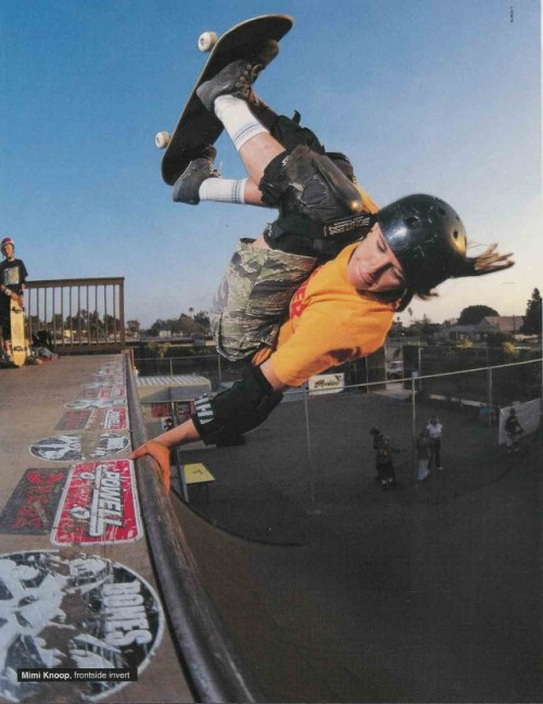 Mimi Knoop: Frontside Invert (Thrasher Magazine - May 2004)