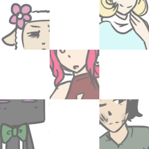 ((Heeeeey~ Guess what? The 'About the Characters' page is uuuuup! Now you guys can have a better idea of what the characters are like so you can think of more questions! I hope you enjoy the page and the art that goes with it. X3 ))