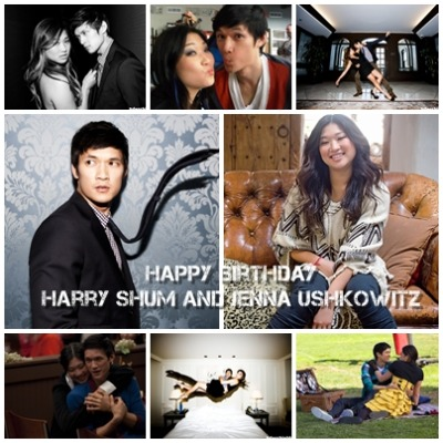 Happy Birthday Harry Shum (@iharryshum) and Jenna Ushkowitz (@JennaUshkowitz) Wish you all the best! :) Made by: @gleeandgleeks