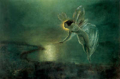romantisme1812:  John Atkinson Grimshaw, Spirit of the Night (1879).