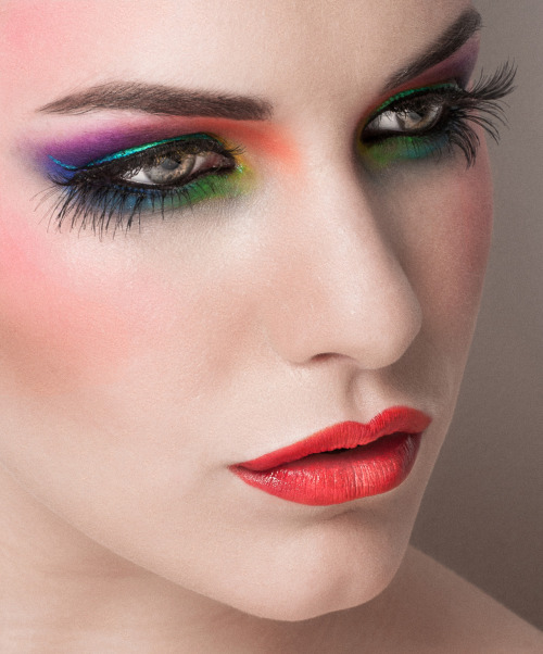 showmemakeup:  Another image from the Summer Colours shoot… I love Kate's face, its such a pleasure to work on! Martin has captured the perfect angle in my eyes, as a makeup artist, all you want in an image is to capture the art you've created!