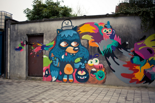 banksystreetart:  Our friends from Street Art Belgium need your help, go to this website, select NL as language and vote for them in category NICHE, fill out your coordinates and you are all set. Your help is so much appreciated. Love street art! (picture: work by Bue The Warrior)