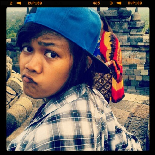 Creepy face #Me #Creepy #Swag #Vocation #Temple #Indonesia  (Taken with instagram)