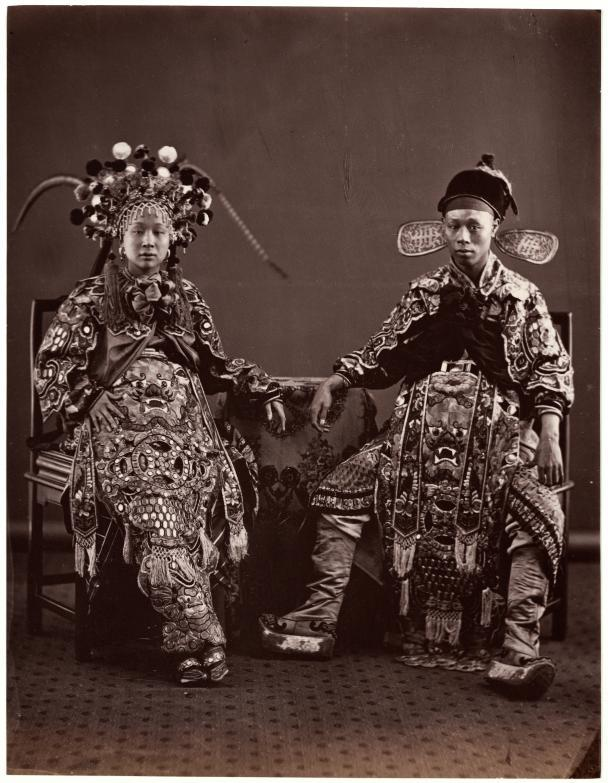 sisterwolf:  Chinese Opera Actors - Emile Gsell c. 1868