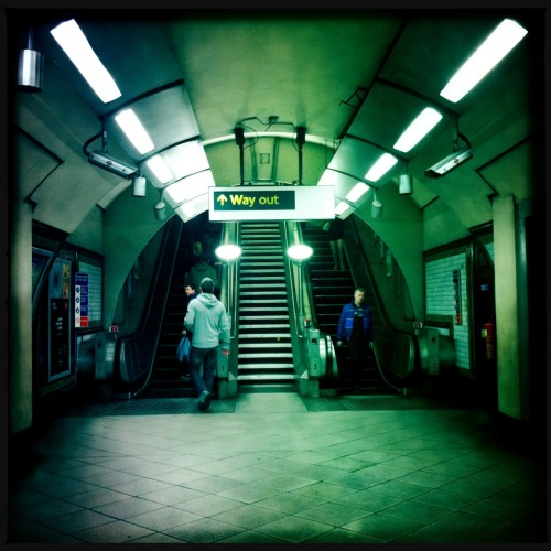Way out at Tooting Bec Station. Rediscovering a few shots on my HipstaRoll!  John S Lens, DC Film, No Flash, Taken with Hipstamatic
