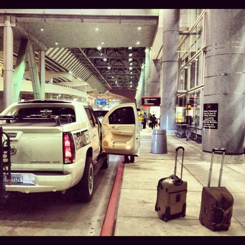 Dropping off parents at #airport #cadillac #escalade #luggage #truck  (Taken with instagram)