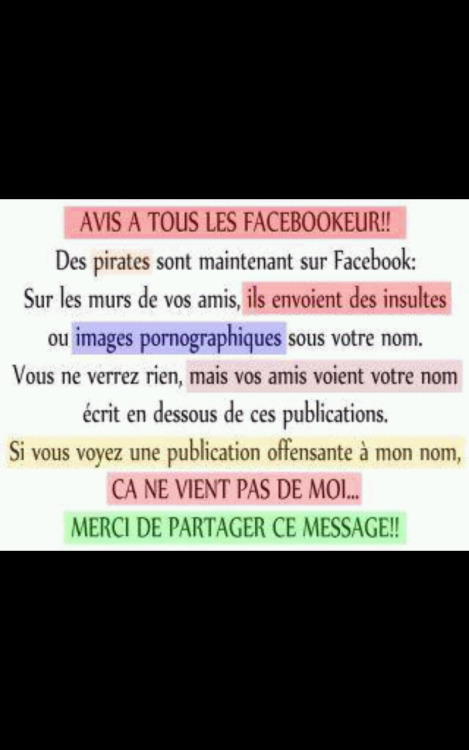 Attention, les pirates sont sur Facebook. MDR.