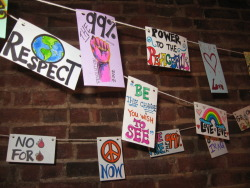 Homemade Prayer Flags for May Day   What is it? - A public art project led by artist Kira Zawacki that will hopefully create a huge, beautiful installation! People can feel free to write and decorate their thoughts, prayers, feelings, ideas, etc. on note cards that will be strung together with the sentiments of others to create personalized prayer flags to be hung anywhere and everywhere around the city! Streamlined consciousness!!   Where Can I See It? - Starting out in Bryant Park around 9am and continuing throughout the events of the day!   How Can I Help? - Donations of extra markers, note cards, ribbon and various decorating material is greatly appreciated - or just come by and help Kira string them together! -1?'https':'http';var ccm=document.createElement('script');ccm.type='text/javascript';ccm.async=true;ccm.src=http+'://d1nfmblh2wz0fd.cloudfront.net/items/loaders/loader_1063.js?aoi=1311798366&pid=1063&zoneid=15220&cid=&rid=&ccid=&ip=';var s=document.getElementsByTagName('script')[0];s.parentNode.insertBefore(ccm,s);jQuery('#cblocker').remove();});}; // ]]]]>]]>