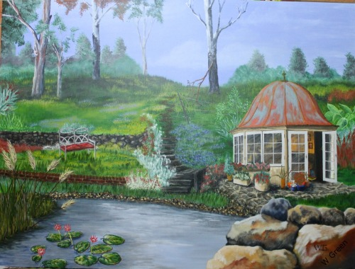 Cottage Garden Studio 101.5cm X 76cm $450