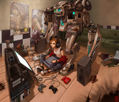 seanmonster:  The Workstation 2 by Jujika I don't know that I could work with something like that looming over me…