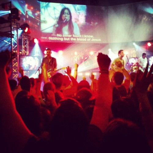 #awakening2012 night two, @awakeningmusic rocked the house. #night2 #healing #salvation #worship #worshipers #music #revival #lights #band #conference #presence #filled #people #encountering #love #ac2012 #Christ (Taken with instagram)
