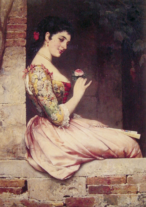monsieurleprince:  Eugene de Blaas (1843-1932) - The rose